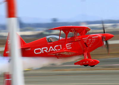 Sean Tucker And The Oracle Challenger II At Salinas Airshow Art Print