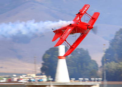 Photograph - Sean Tucker Inverted Over Salinas Ksns Vor by John King