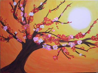 Sean's Apple Bloosom Tree Art Print by Tami Farina