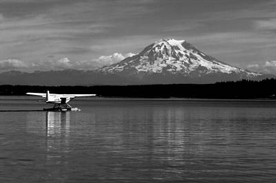 Photograph - Seaplane In The Sound by Benjamin Yeager