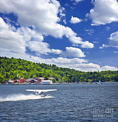 Georgian Bay Photograph - Seaplane On Water by Elena Elisseeva