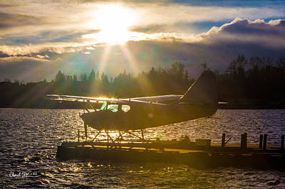 Seaplane Sunset Art Print by Charlie Duncan