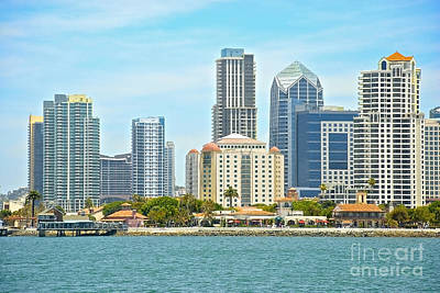 Photograph - Seaport Village And Downtown San Diego Buildings by Claudia Ellis