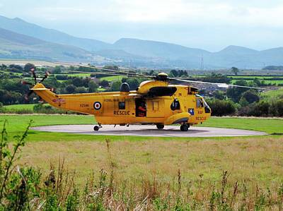 Ambulance Photograph - Search And Rescue Helicopter by Cordelia Molloy
