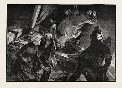 H Drew Drawing - Searching For Someone At Sea by Overend, William Heysham (1851-1898), British
