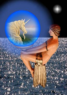 Digital Art - Searching For The Unicorn by Ed Lukas
