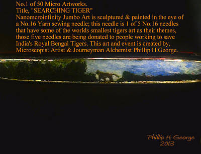 Nanomicroinfinity Art Painting - Searching Tiger by Phillip H George