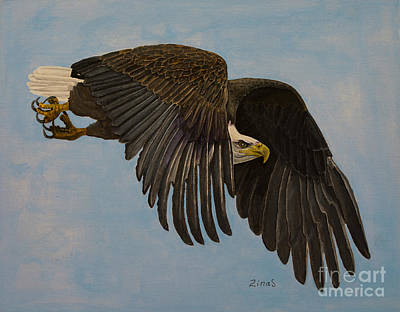 Soaring Painting - Searching by Zina Stromberg