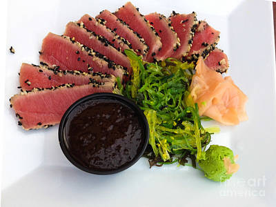 Food Photograph - Seared Tuna With Ginger by Thomas Marchessault