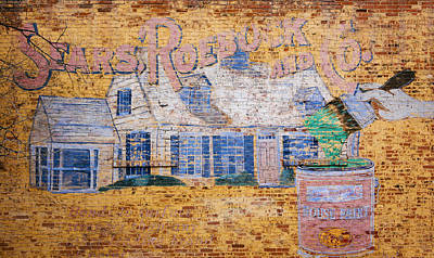 Advertising Photograph - Sears And Roebuck Old Brick Ad by Marilyn Hunt