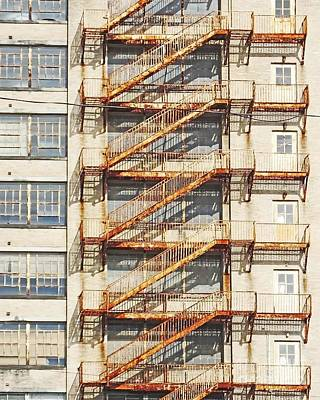 Sears Crosstown Fire Escape Memphis Tn Art Print
