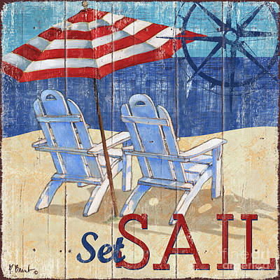 Beige Painting - Seas The Day II by Paul Brent