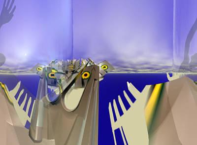 Digital Art - Seascape #1 by Stephen Donoho