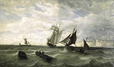 Seascape. 1868. Oil On Canvas. Spain Art Print by Everett