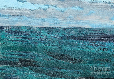 Digital Art - Seascape Abstract by Danuta Bennett