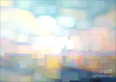 Bed Spread Digital Art - Seascape Abstracted by Karen Francis