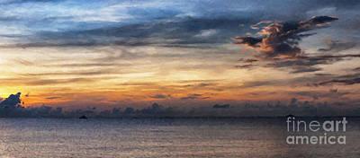 Abstract Seascape Digital Art - seascape Asia panorama BIG painting by Antony McAulay