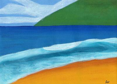 Seascape Art Print by Bav Patel