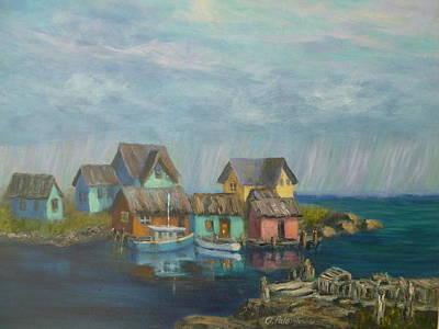 Seascape Boat Paintings Art Print
