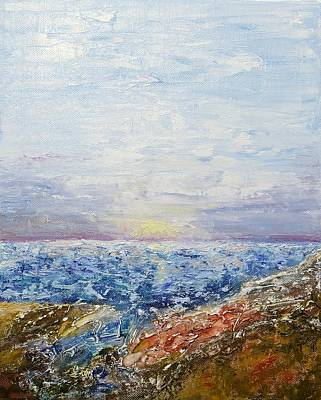 Painting - Seascape by Draia Coralia