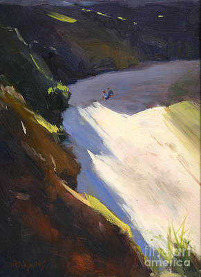 Painting - Seascape Drama After Colley Whisson by Nancy  Parsons