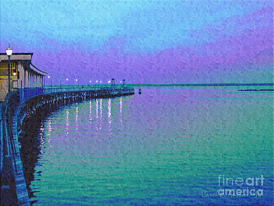 Painterly Seascape Purple Flurry Art Print