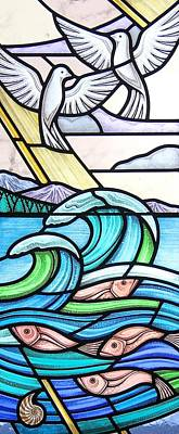Seascape Art Print by Gilroy Stained Glass