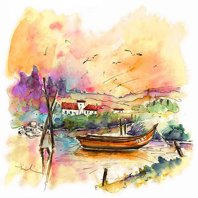 Portugal Art Painting - Seascape In Portugal 02 by Miki De Goodaboom