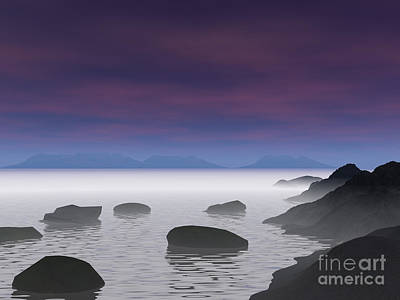 Digital Art - Seascape by Nicholas Burningham
