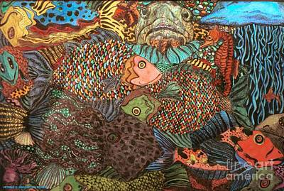 Aquatic Life Mixed Media - Seascape No.2 by E Jethro Gaede