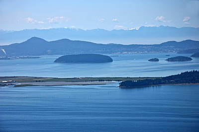 Photograph - Seascape Of Ocean And Islands San Juan Islands Wa by Valerie Garner