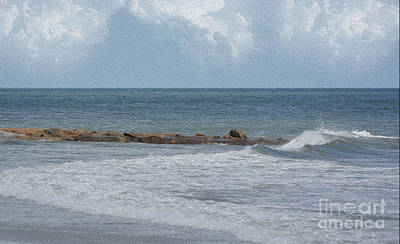 Photograph - Seascape Photo Oil by Kathy Baccari