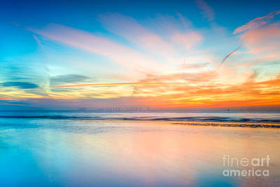 Turbines Photograph - Seascape Sunset by Adrian Evans