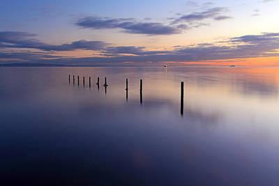 Photograph - Seascape Sunset by Grant Glendinning