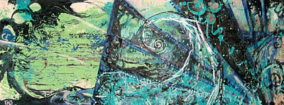 Wave Curl Painting - Seascape by Tanya Kimberly Orme