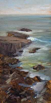 Painting - Seascape Vertical by Timon Sloane