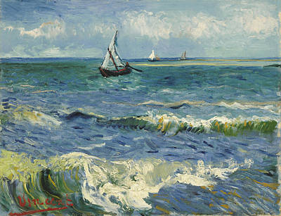 Painting - Seascape by Vincent Van Gogh