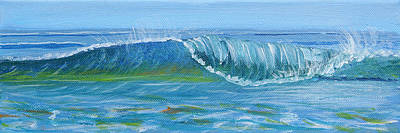 Painting - Seascape Wave I by Trina Teele