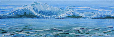 Painting - Seascape Wave II by Trina Teele