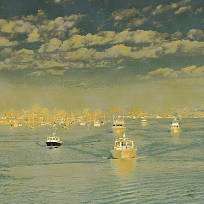 Photograph - Seascape With Boats by Ben and Raisa Gertsberg