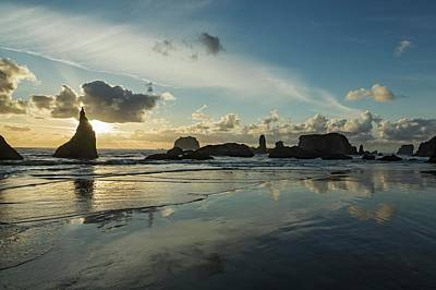 Photograph - Seascape With Pinnacles At Bandon Beach by Macduff Everton