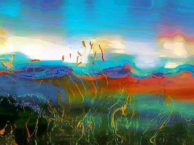 Abstract Seascape Digital Art - Seascapes 1 by Amanda Moore