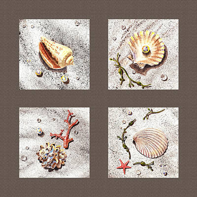 Seashell Collection IIi Art Print by Irina Sztukowski