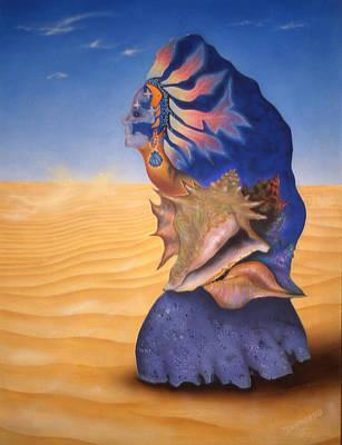 Painting - Seashell Girl by Dan Townsend