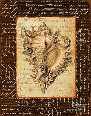 Seashell In Sepia I Art Print by Marilu Windvand