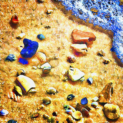 Seashells And Surf Art Print