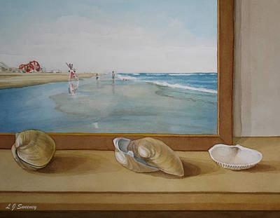 Seashells By The Jersey Shore Art Print by Lauren Sweeney