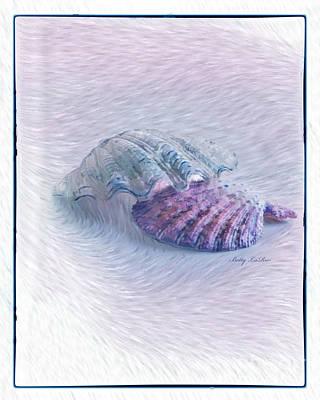 Seashells In Purple Art Print by Betty LaRue