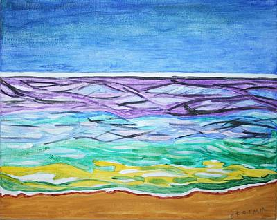 Print featuring the painting Seashore Blue Sky by Stormm Bradshaw