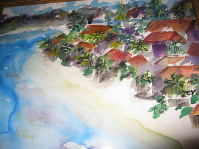 Seashore In Bali Art Print